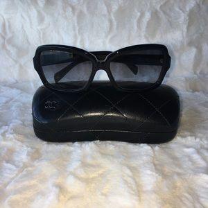 CHANEL Black Square Frame Sunglasses 5143